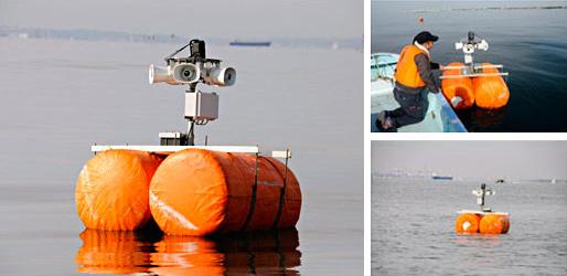 海上用防除機コンパクト版を鳥対策で導入