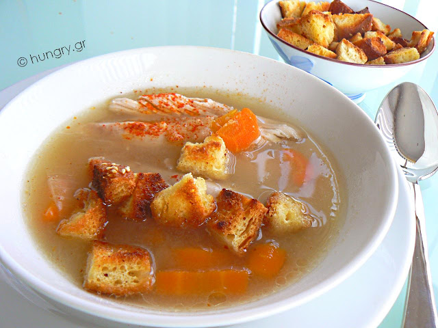 Chicken Soup with Frumenty