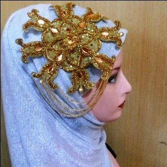 10 Aksesoris Jilbab Pesta Pengantin Elegan   1000+ Jilbab Cantik