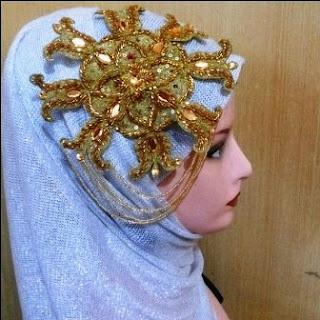 Aksesoris Jilbab Pesta Pengantin Cantik