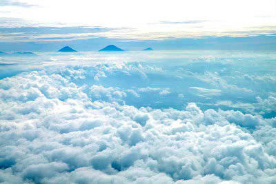 mountain cloud ocean peace