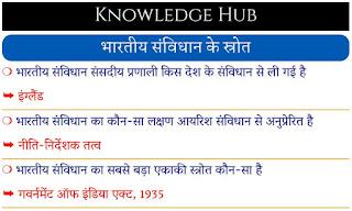 भारतीय संविधान के स्रोत