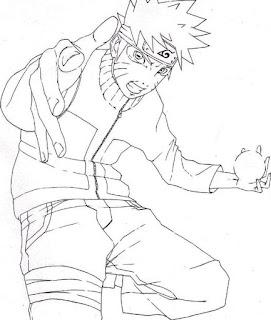 Sketsa Mewarnai Gambar Kartun Naruto 201613