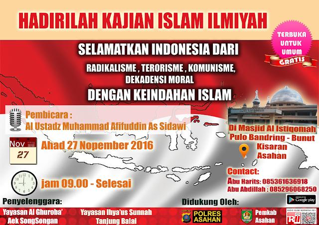 [AUDIO] Selamatkan Indonesia Dari Radikalisme, Terorisme, Komunisme, Dekadensi Moral dengan Keindahan Islam - Ustadz Muhammad Afifuddin