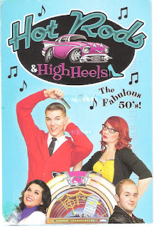 hot rods & high heels postcard