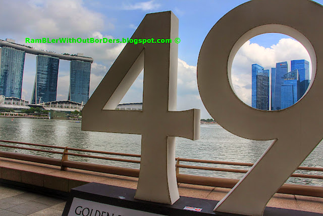 Year 48 milestone exhibit, SG50 NDP, Marina Bay, Singapore