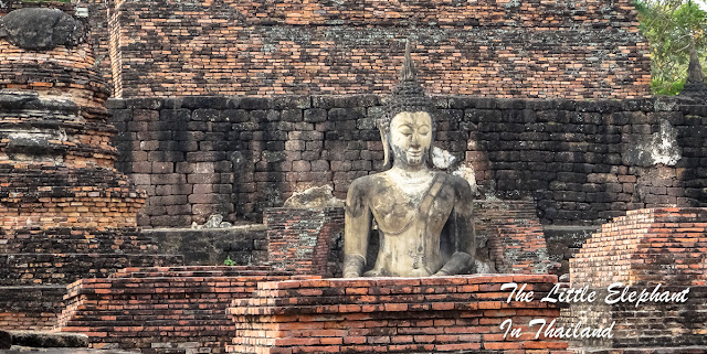 A Buddha image in Sukhothai Historical Park, Thailand