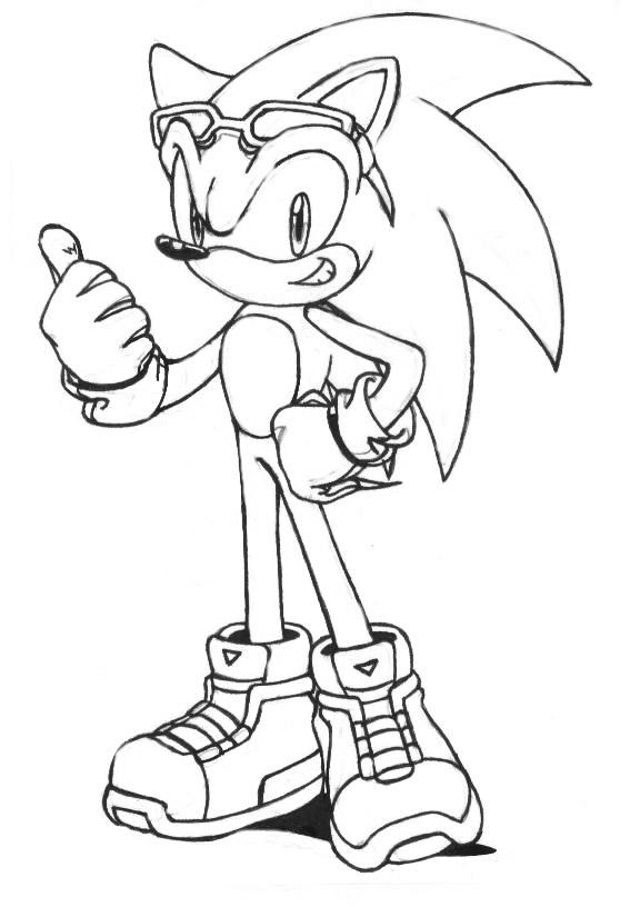 Sonic Shadow Y Silver Para Colorear