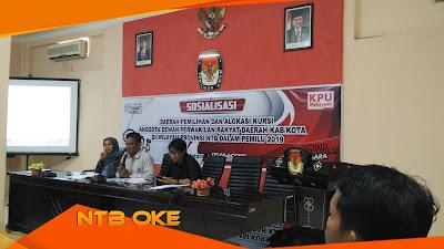 KPU NTB Sosialisasikan Dapil dan Alokasi Kursi