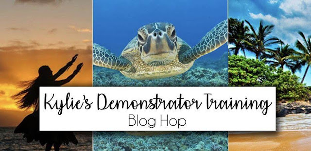 Kylie's Demonstrator Training Blog Hop banner photo
