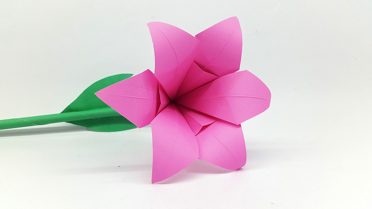 Colors Paper How To Make Lily Paper Flower Origami Flowers For