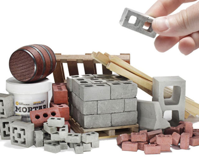 Give your cubicle some blue-collar charm with these mini construction building materials. You'll keep boredom at bay for hours by using these mini super realistic materials for everything from tiny construction projects to fun stacking games.