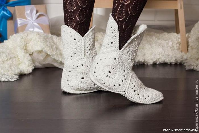 zapatillas, crochet, zapatillas tejidas con grannys, patrones para crochet