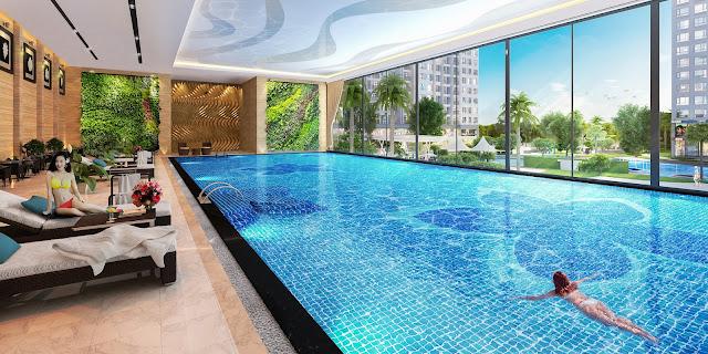 Bể bơi 4 mùa cao cấp tại dự án Booyoung Mỗ Lao