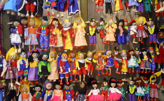 Marinettes in a shop in Prague (ca. 2010)