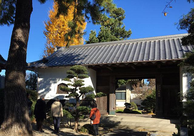 浜北貴布祢長泉寺山門(2016年12月10日撮影)