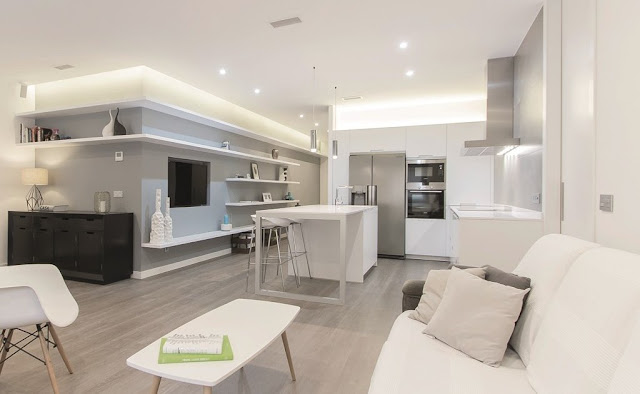 El sal n y la cocina frente a frente cocinas con estilo for Cocinas con isla y salon