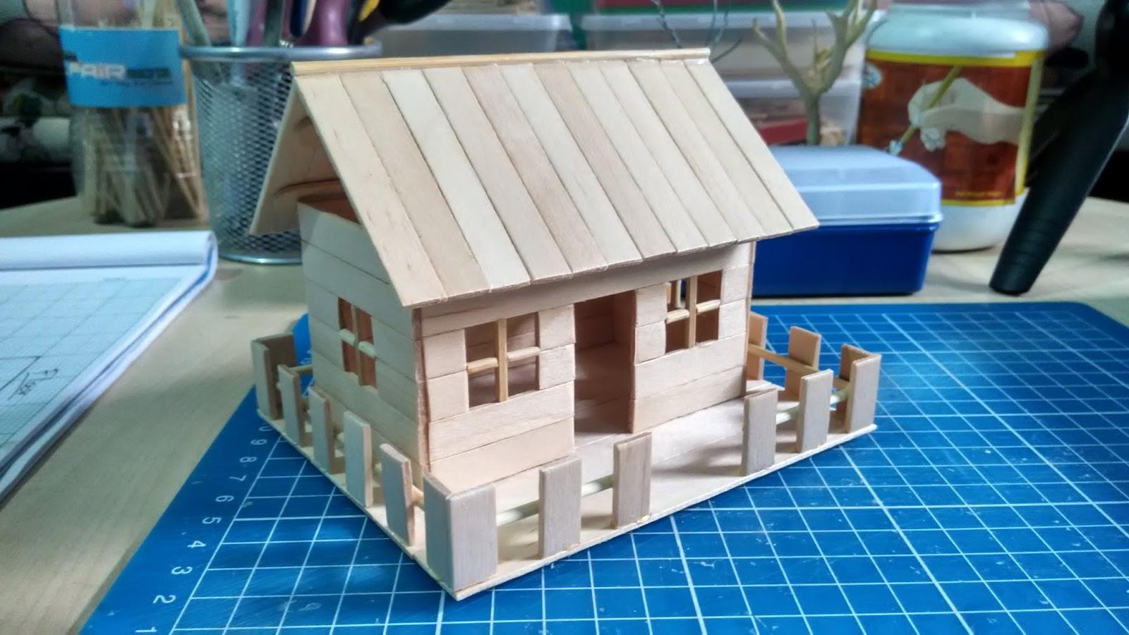 Tutorial Rumah Batang Aiskrim Popsicle Stick Miniature House Wanpokwan