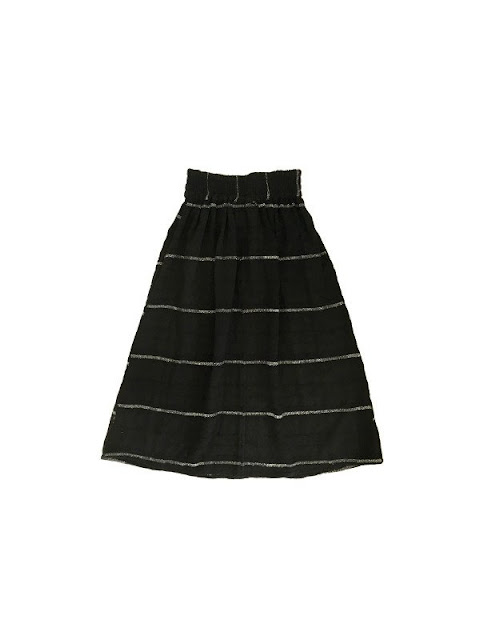 Ace & Jig Ra Ra Midi Skirt in Black Hole