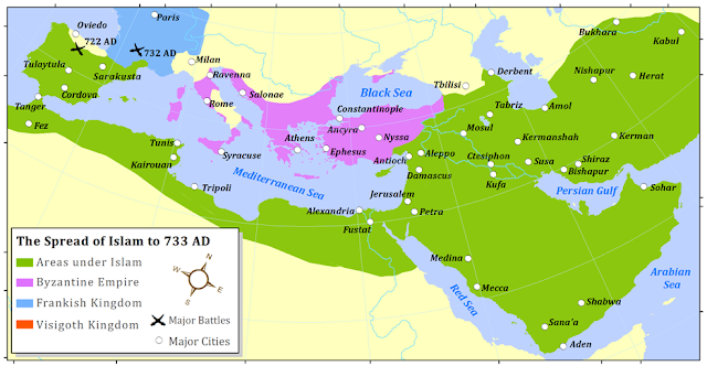 Image result for Map of Islam 750 AD