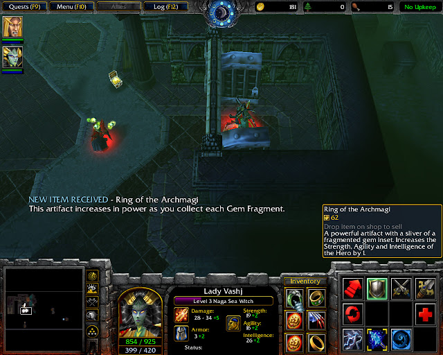 Ring of the Archmagi Screenshot   The Dungeons of Dalaran Mission 11   Warcraft 3: The Frozen Throne