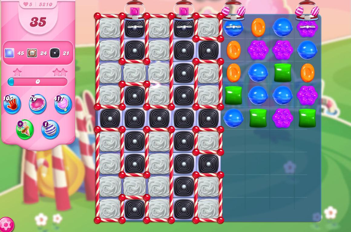 Candy Crush Saga level 5210