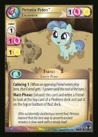 My Little Pony Petunia Paleo, Excavator Defenders of Equestria CCG Card