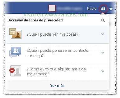 Accesos Directos de Privacidad Facebook