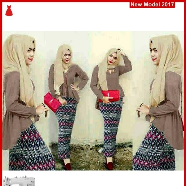 MSF0104 Model Hijab Brown Murah Peplum BMG