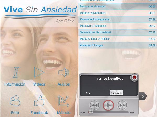 App oficial del método Vive sin ansiedad