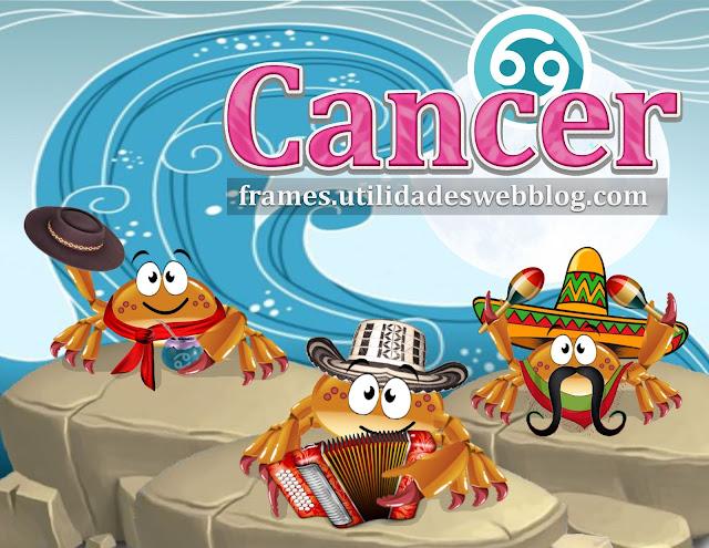 marcos para fotos del signo Cancer de Colombia, Argentina y México