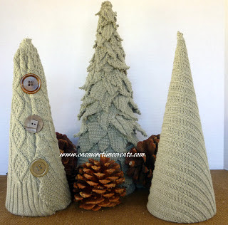 DIY Sweater Trees from One More Time - via Setting for Four