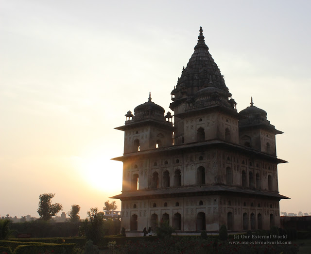 Sunset at the Cenotaphs, Orchha
