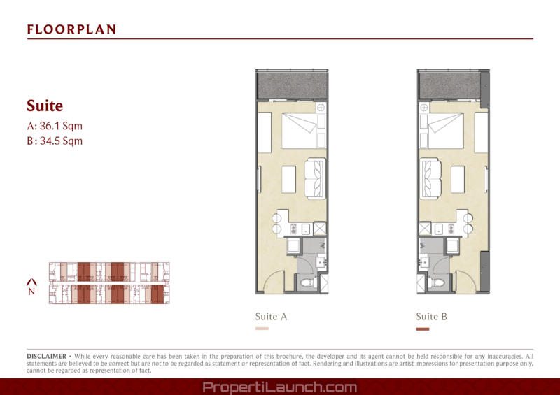 Studio Type Floor Plan Saffron Noble Sentul