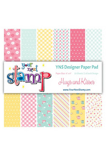 Designer Paper Hugs and Kisses