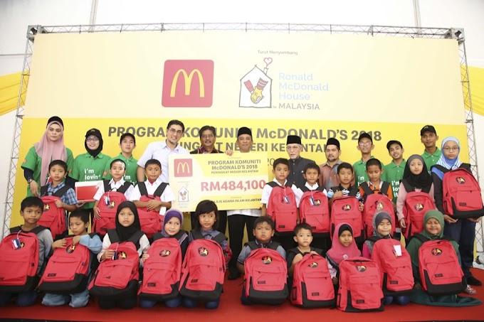 Program Komuniti McDonald 2018 Bantu Golongan Miskin Di Pantai Timur