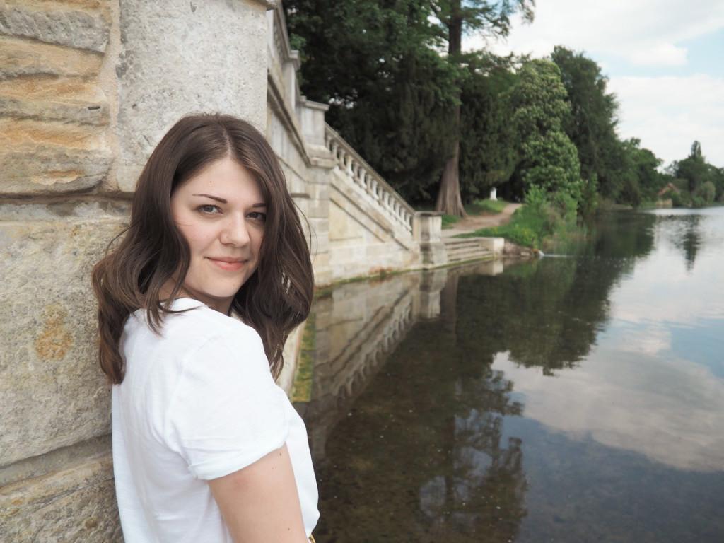 Brunette girl in Potsdam