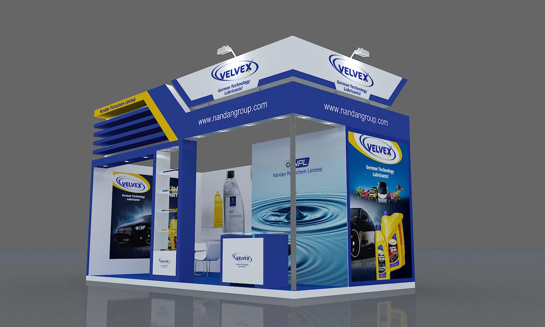 Saravanan designs 6m x 3m nandan petrochem stall for Bathroom ideas 3m x 3m