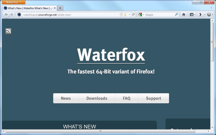 waterfox 64 bit