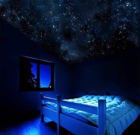 How to Make a Bedroom Ceiling Look Like the Night Sky with