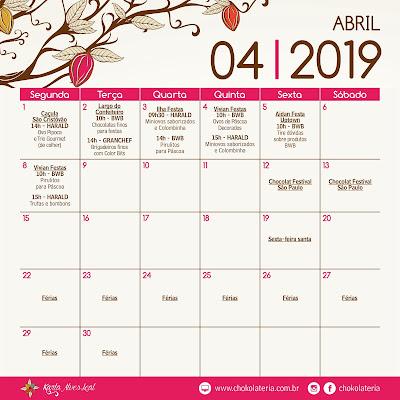 Aulas de Confeitaria - Abril/ 2019