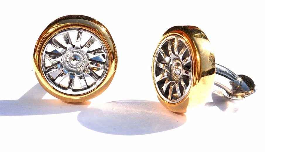 These Cufflinks Are Made From The Aluminum Of A Bugatti Veyron's Wheel