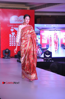 South Indian Celebrities Pos at Love For Handloom Collection Fashion Show  0096.jpg