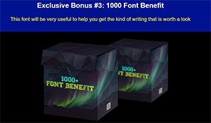1000+ Font Benefit