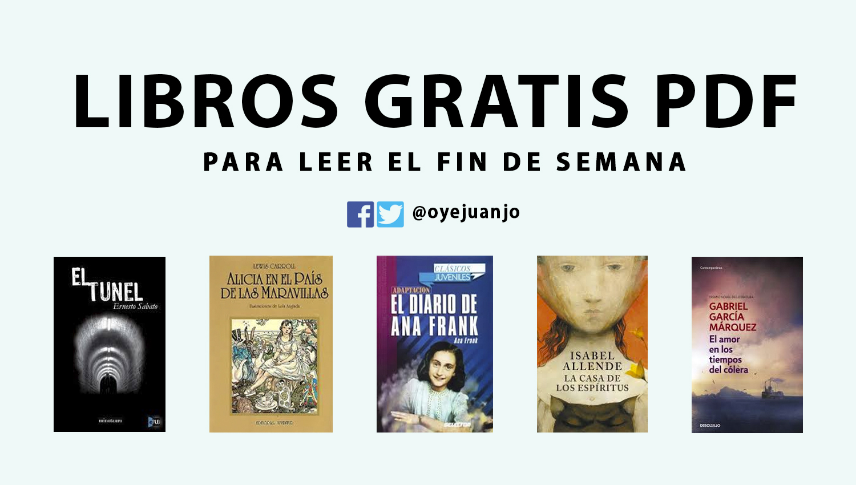 5 Libros Gratis En PDF Para El Fin De Semana