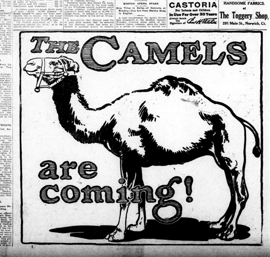 Camel advertising May 20, 1914
