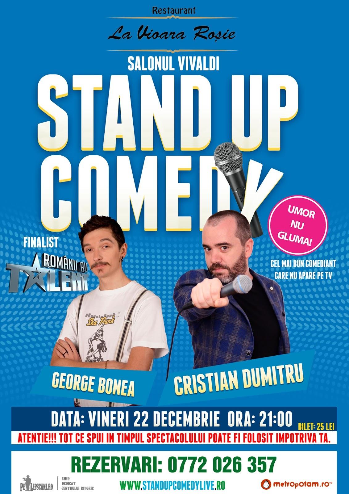 Stand-Up Comedy Bucuresti Vineri 22 Decembrie Vioara Rosie