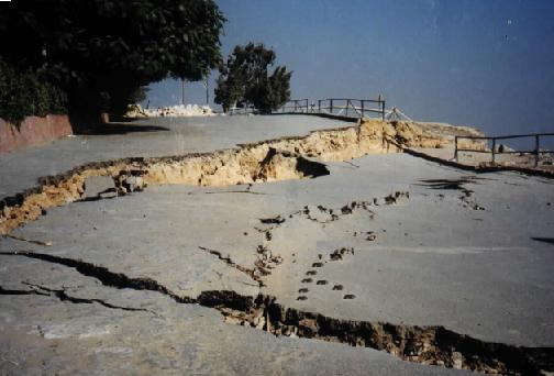 The entire ground is collapsed due to Collapsible Soil