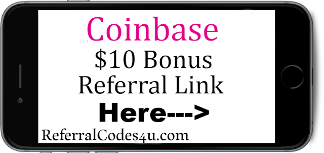 Get a $10 Coinbase Sign up bonus here!