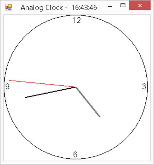 C# Analog Clock Program